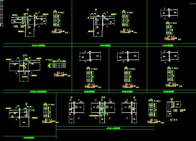CAD Library-AutoCAD Blocks & Drawings : ☆【Steel Structure