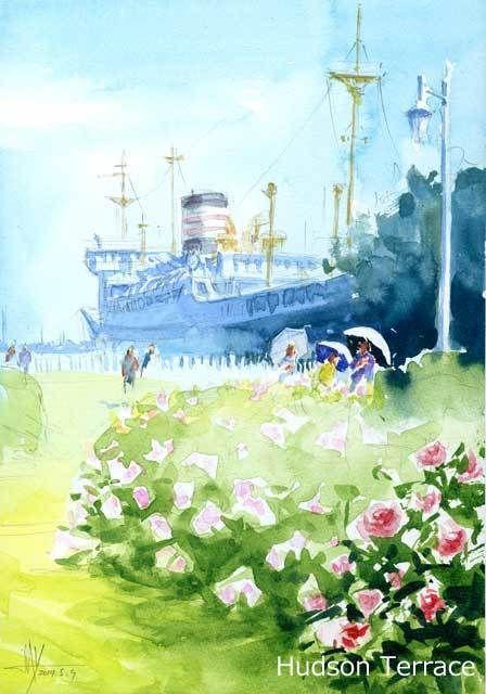 街の風景 #1105 Blog entry, Sketches and Watercolor