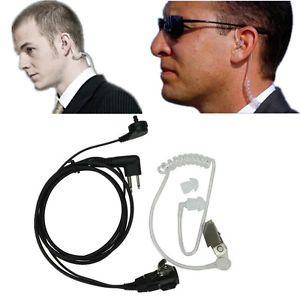 New 2 PIN Mic Covert Acoustic Headset Tube Earpiece for Motorola Radio Security