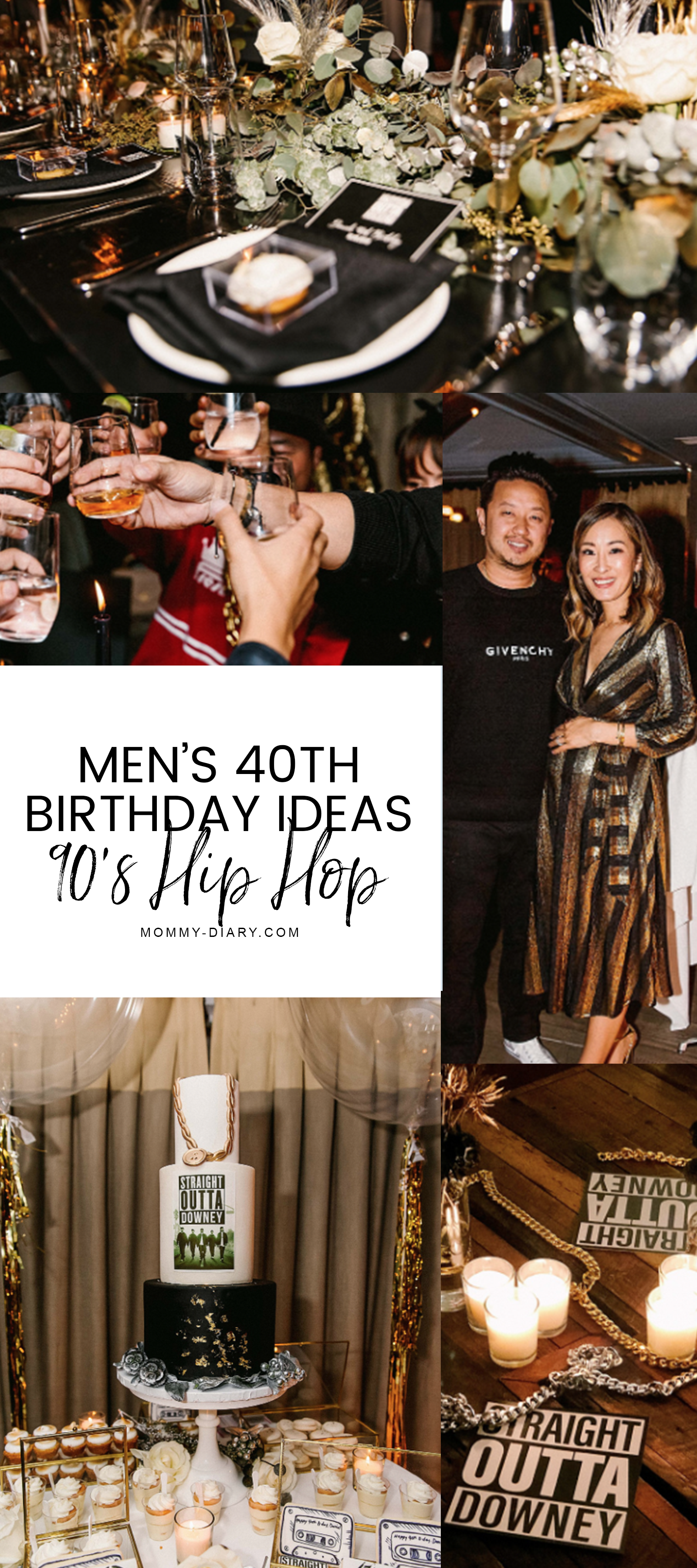 Men S 40th Birthday Party Inspiration 90 S Hip Hop Straight Outta Compton Mommy Diary 40th Birthday Men Men Birthday Party Theme 40th Birthday Ideas For Men Husband [ 3600 x 1600 Pixel ]