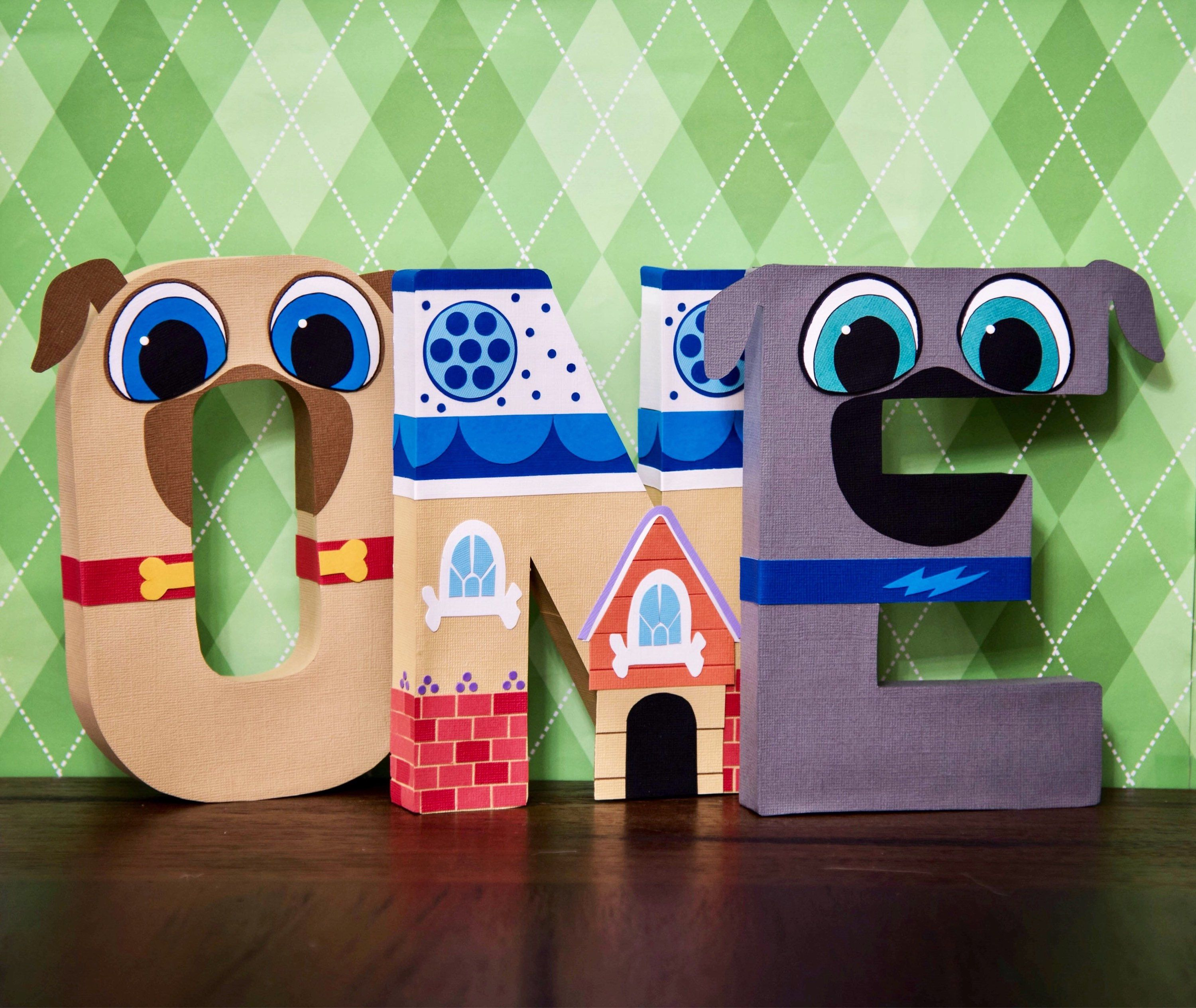 Puppy Dog Pals Party Decor Letters Milestone Word Rolly