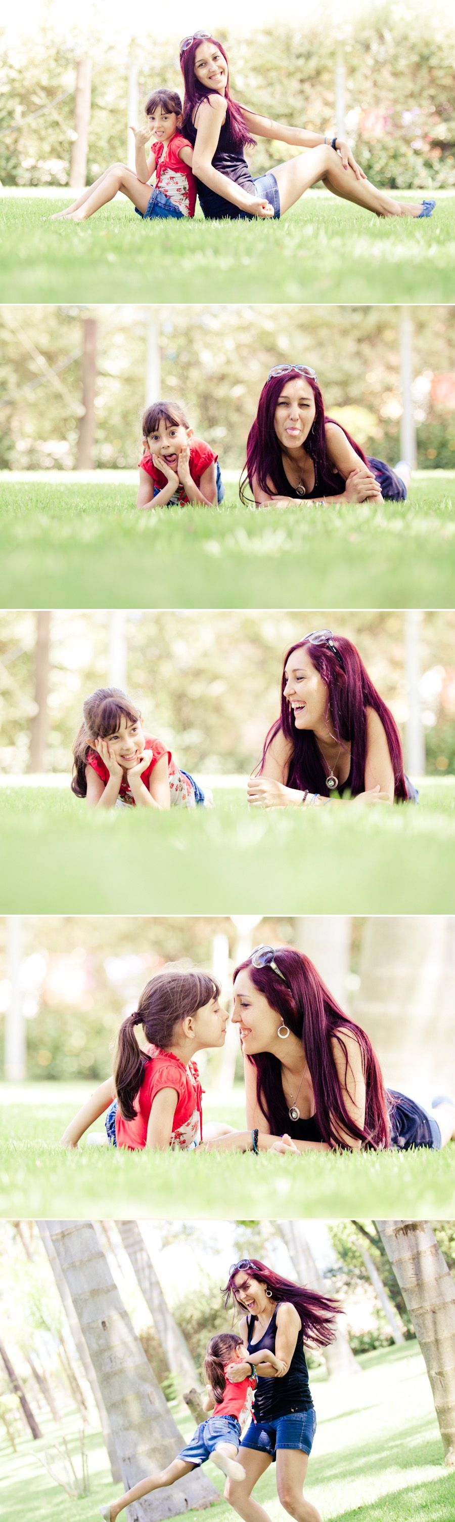 If I ever have a daughter I want to do these pics with her plus I love the mother's hair color!