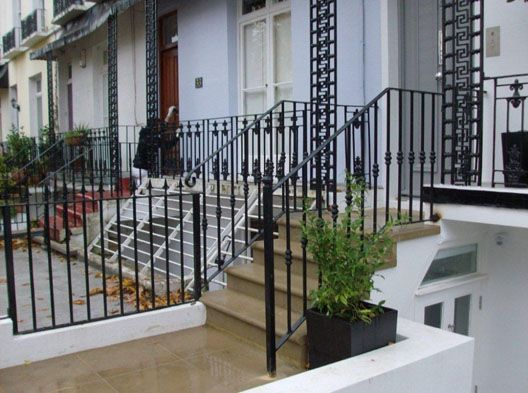 Best Georgian Iron Railings Solid Steel Railings With Wrought 640 x 480