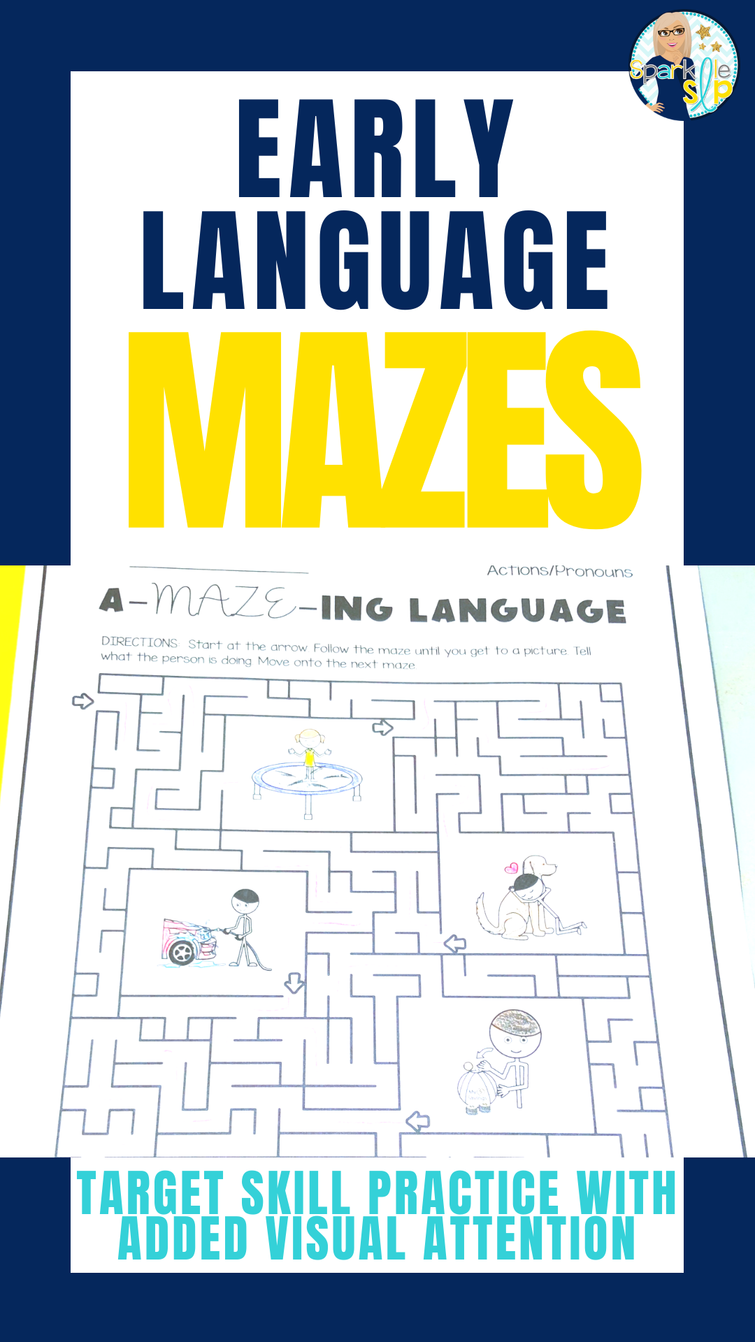 Early Language No Prep Activities For Speech Therapy Mazes