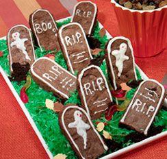recipes sun maid halloween tombstone brownies