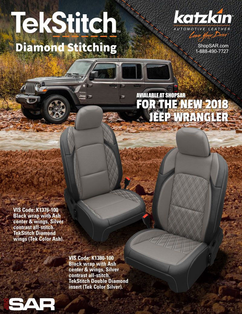 Kick Your Wrangler Seats Up A Notch With Custom Diamond Stitching