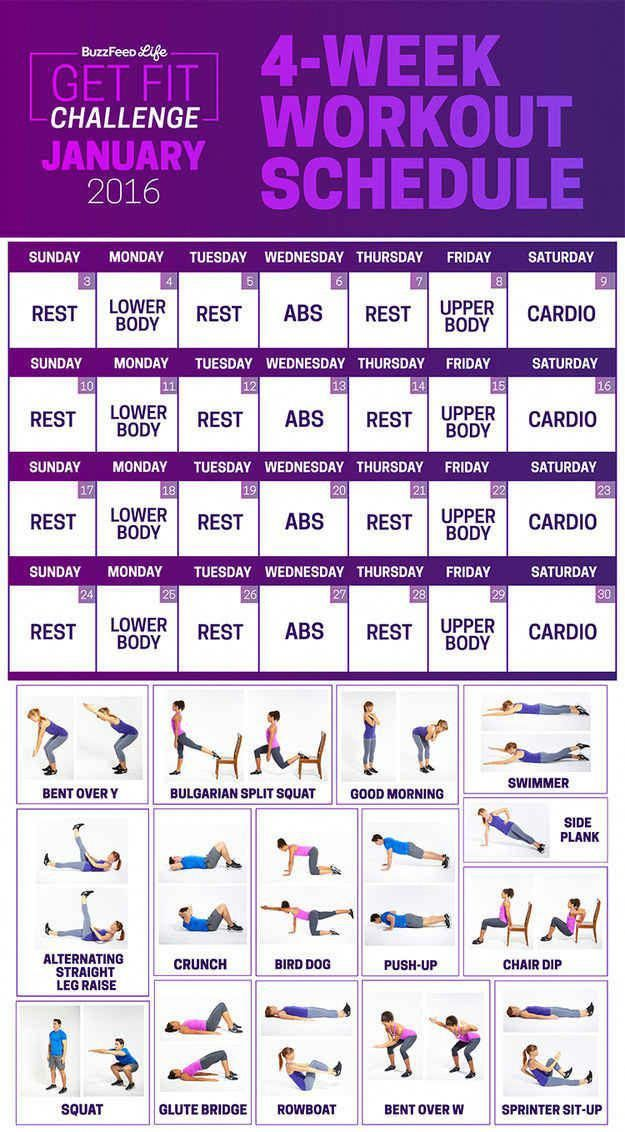If you don't know where to get started, try BuzzFeed's month-long Get Fit Challenge. #fitness