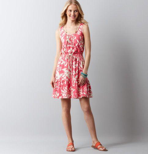 Loft - LOFT Dresses - Floral Print Tie Waist Tank Dress