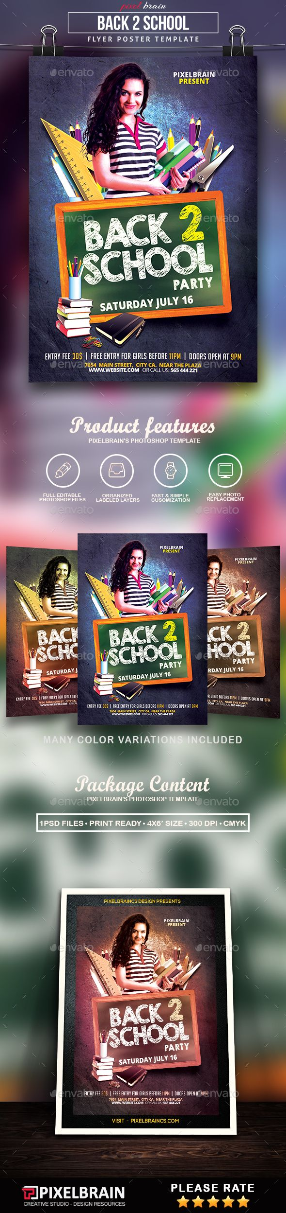 Back To School Party Flyer Template  School Parties Party Flyer