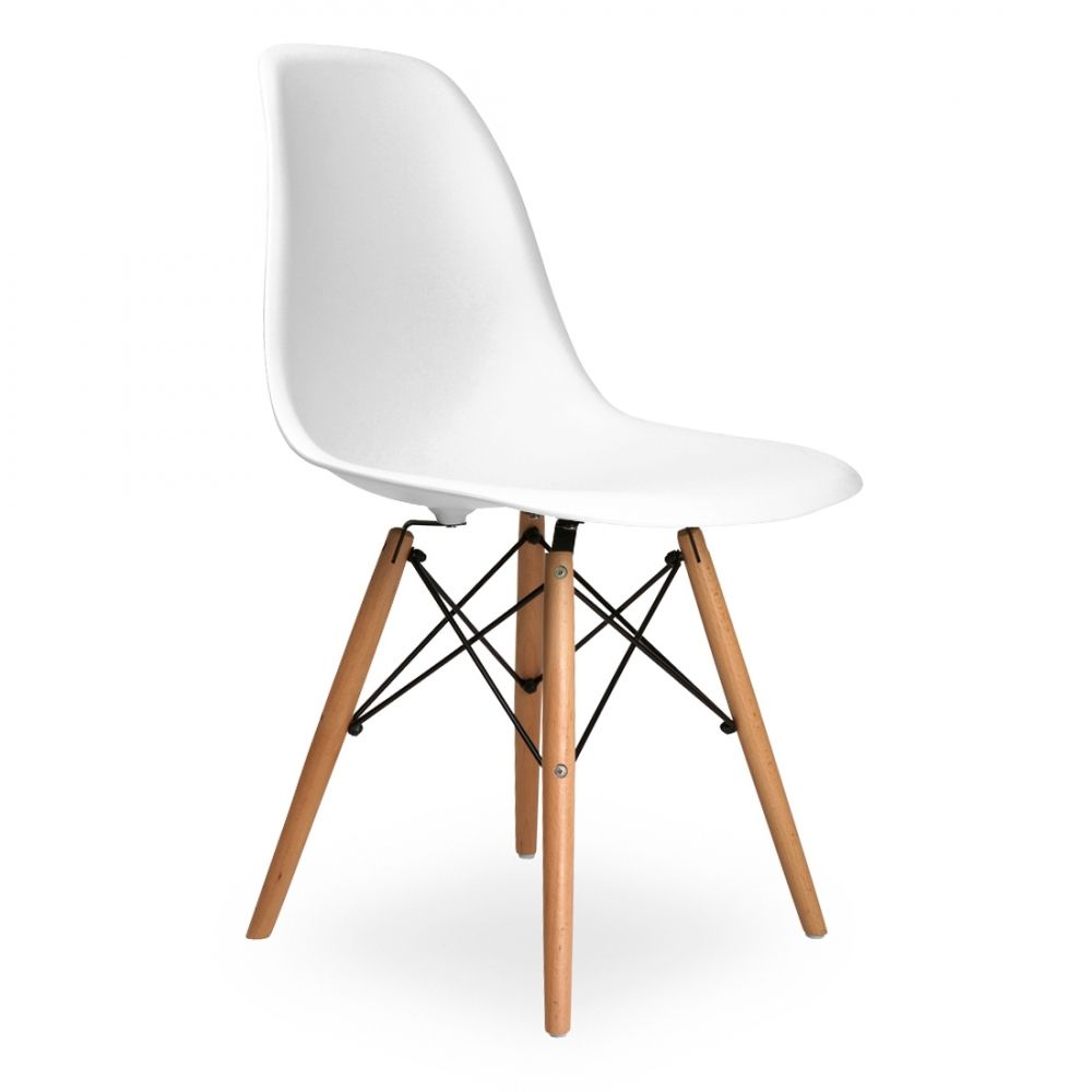 Iconic Designs Dsw Style Plastic Dining Chair White Eames Dsw