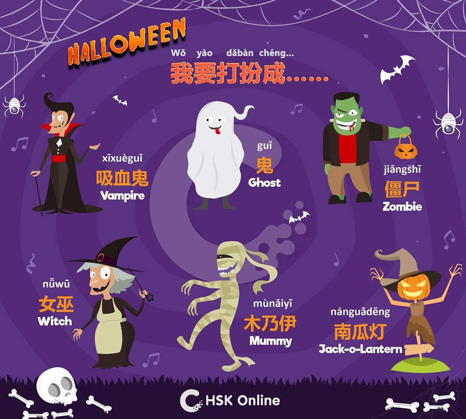 Halloween Related Chinese Words & Phrases Chinese words