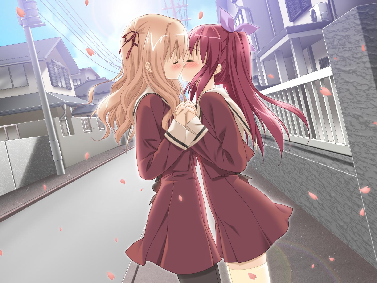 Hot Anime Girls Kissing