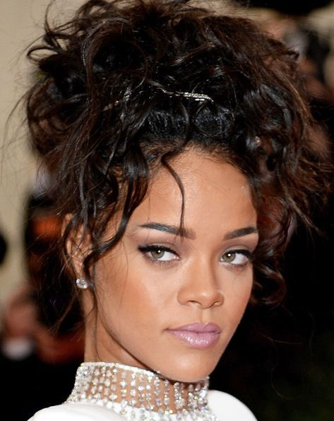 rihanna black hair styles rihanna s updo at met 2014 wedding hairstyles 3898 | 56fa3f492e416c4308bc275c1176770d