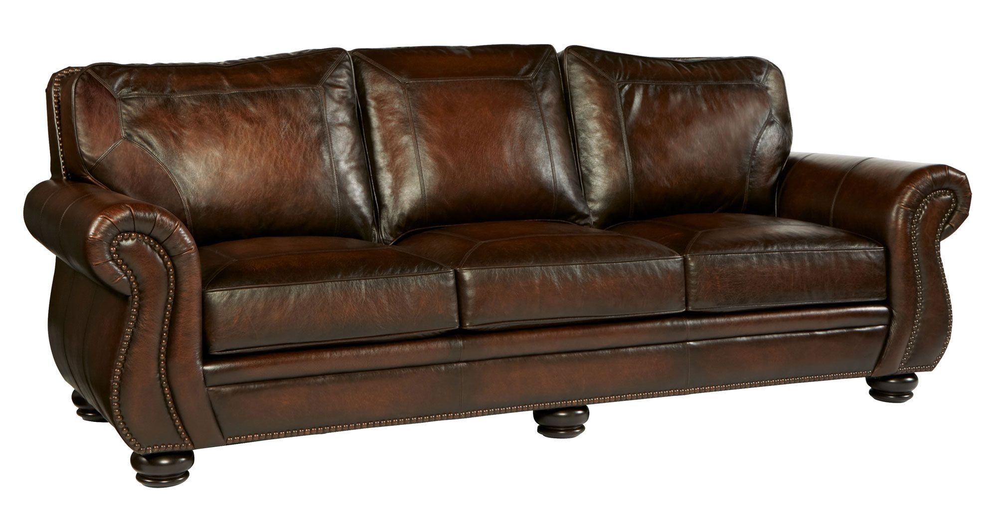Sofa | Bernhardt|Item: 6957L Leather Shown: 165 220