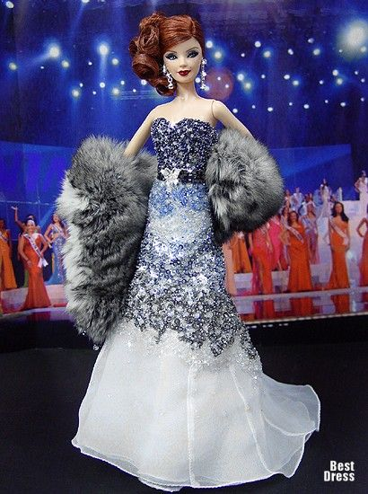 Miss Czech Republic (dress Zuhair Murad )   Ninimomo's Barbie. Europe. 2009/2010
