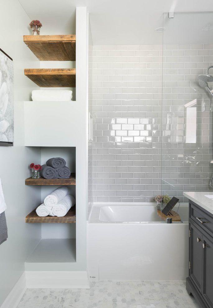 Accent shelves bathroom contemporary with open shelving interior ...