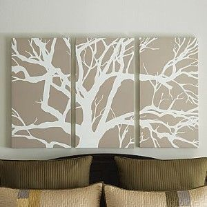 Set Of 3 Tree Canvas Panels By Studio Canvas Wall Art Metal Tree Wall Art Canvas Art Wall Decor