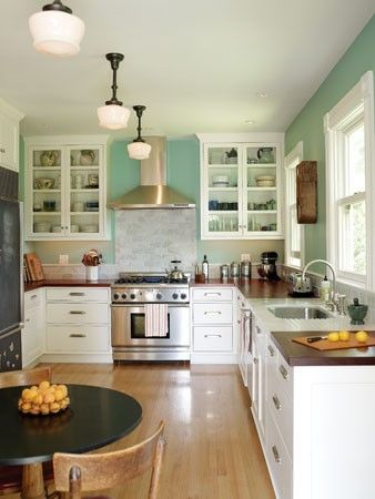 Love this kitchen design-- the light the blue color white cabinets and & Love this kitchen design-- the light the blue color white ... azcodes.com