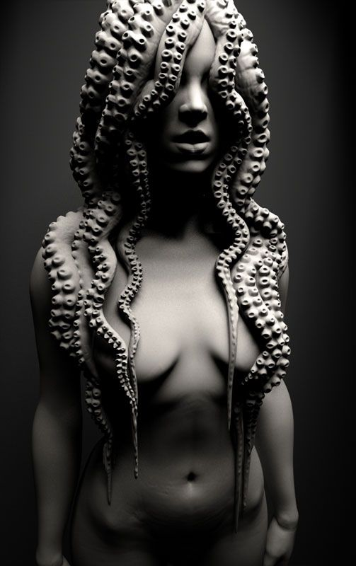 Black girl real life tentacle