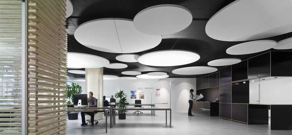 Ecophon Acoustic Ceiling Panel In Open Office 设 计 ┆ 「 吊