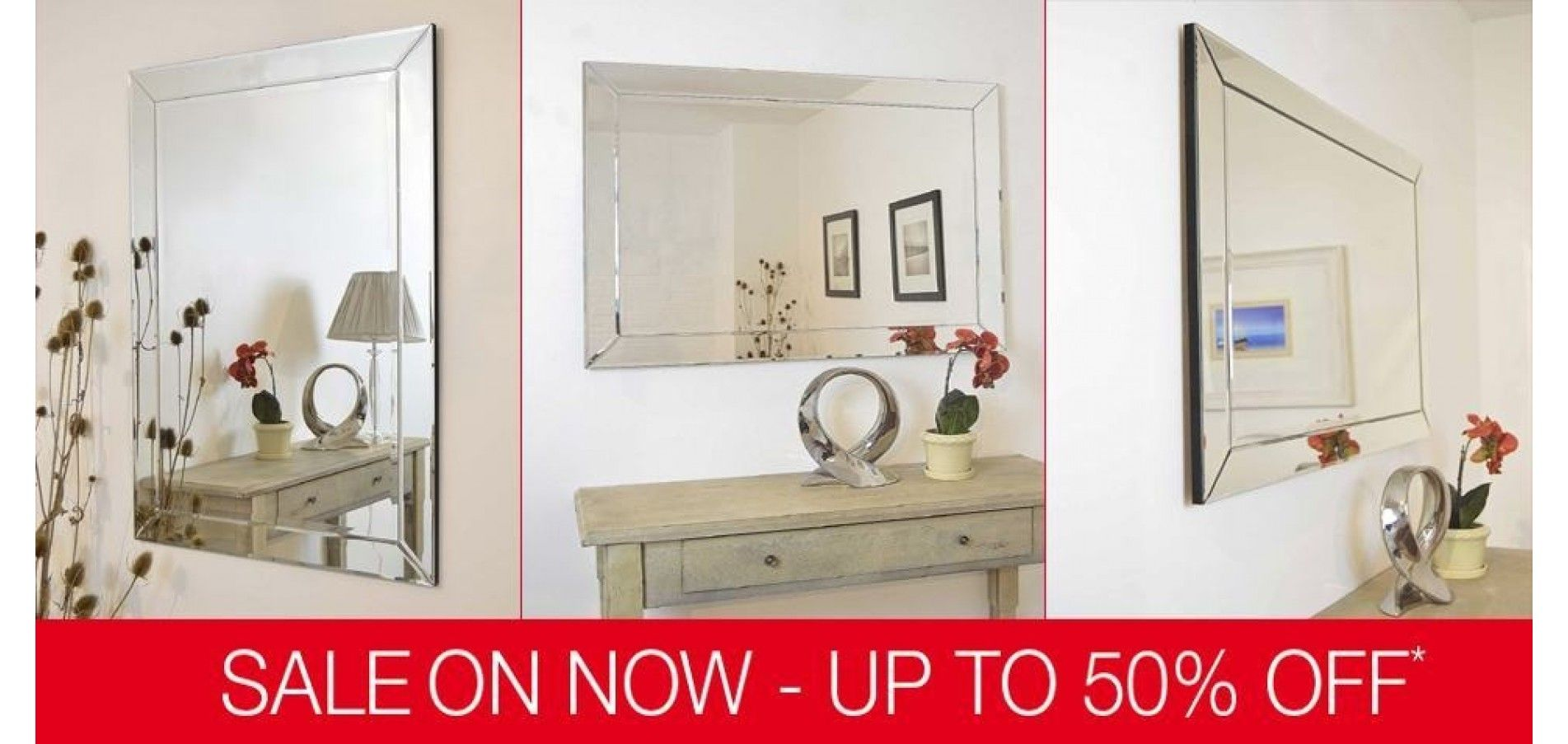These majestic wall mirrors light up a room with a rich decadence ...