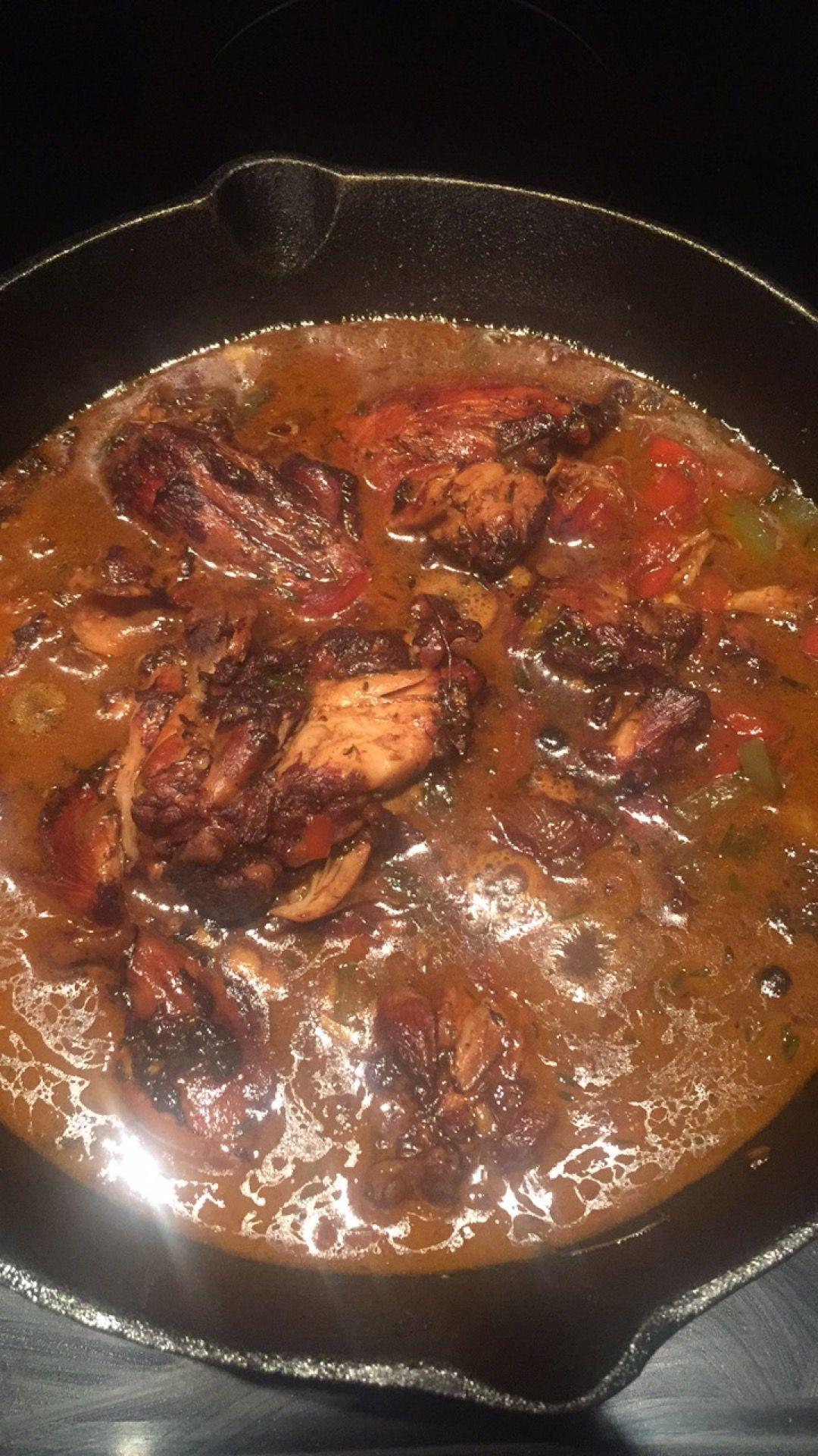 authentic jamaican brown stew chicken  recipe  stew