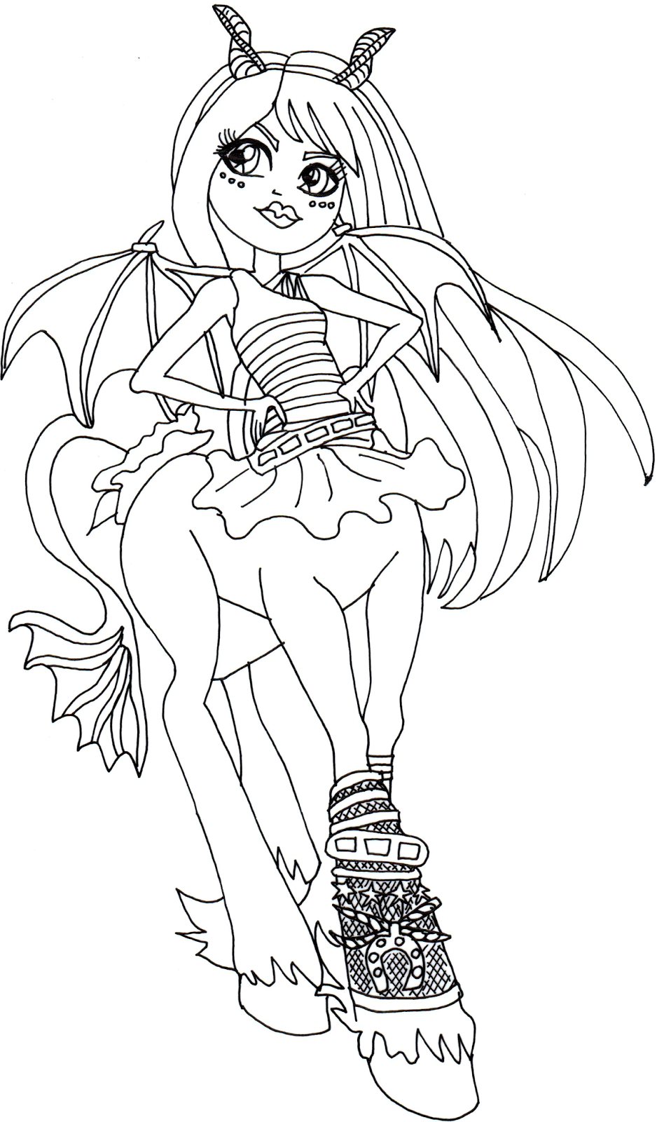 frets quartzmane monster high coloring page png 938 1600