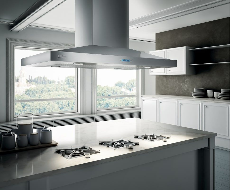 Elica Esl636 600 Cfm 36 Inch Wide Island Range Hood With Electronic Controls And Stainless Steel Range Hood Island Cooker Hoods Range Hood Island Range Hood