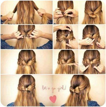 penteados fáceis de fazer sozinha laço