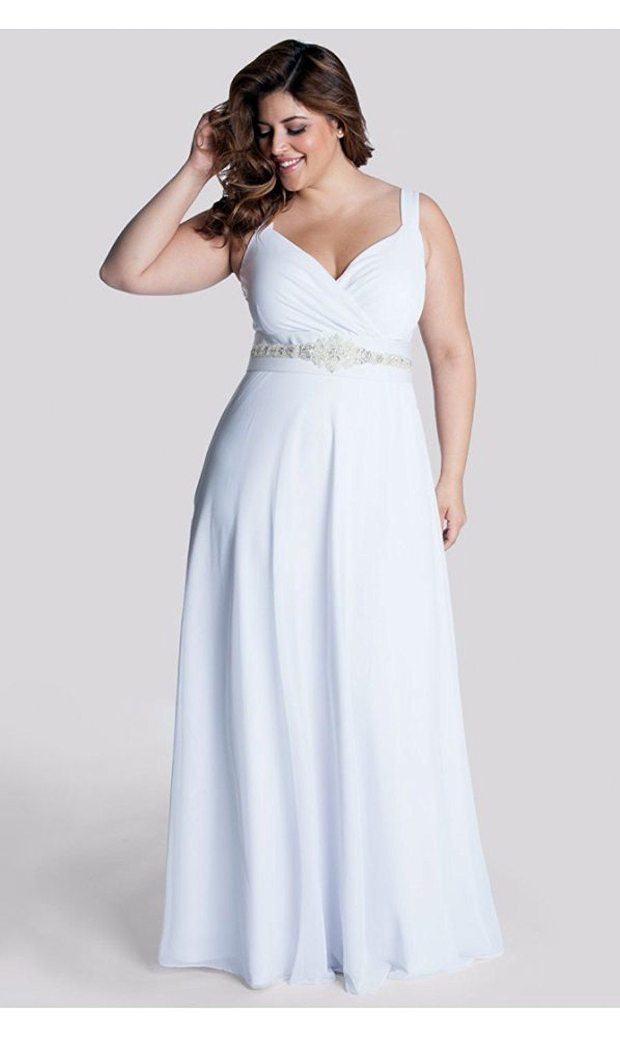 Plus size white wedding dresses  IGIGI Womenus Plus Size White Diamonds Wedding Gown   blanco
