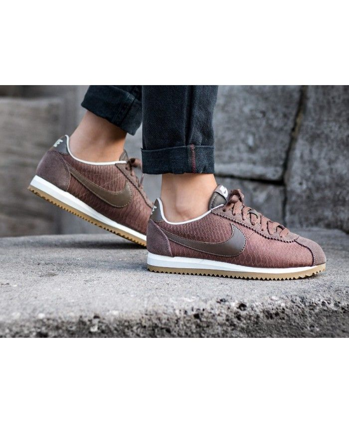 best loved d1461 bf4f5 Femme Nike Cortez Cuir Premium Palomino Snake