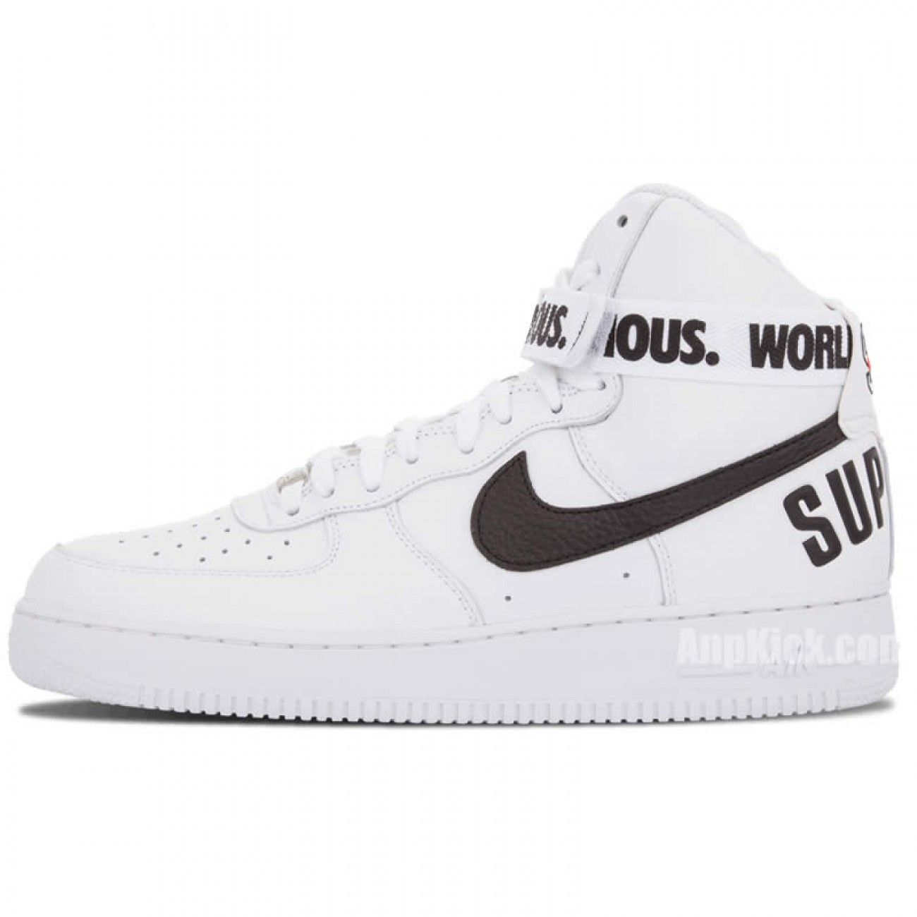 Supreme X Nike Air Force 1 High Sp World Famous 94 White Black 698696 100 Nike Air Force High Nike Air Nike
