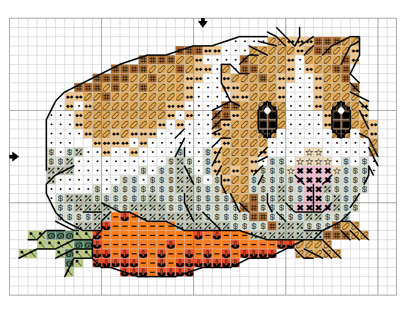 Smiling Guinea Pig With Carrot X Stitch Pattern 1 Of 2 Cross