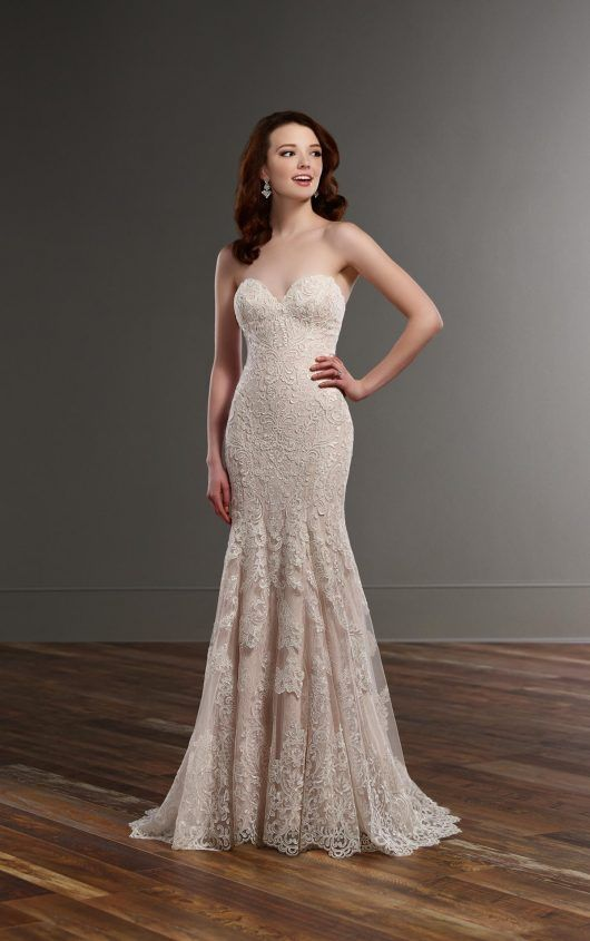 803 Strapless Fit And Flare Wedding Dress By Martina Liana
