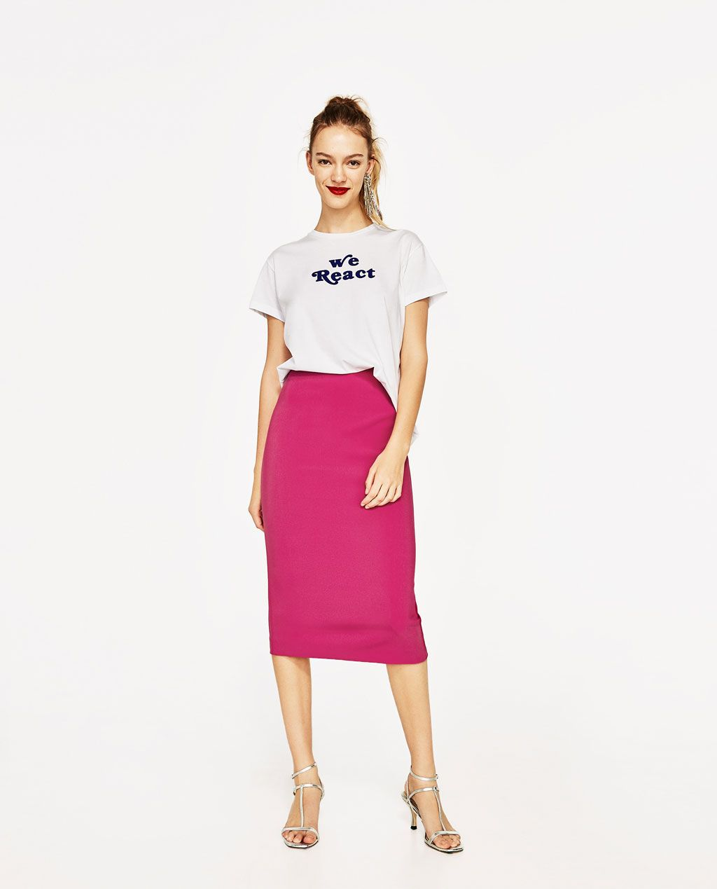 9e094f81c57 Image 1 of PENCIL SKIRT WITH ZIP from Zara | college/career | Skirts ...
