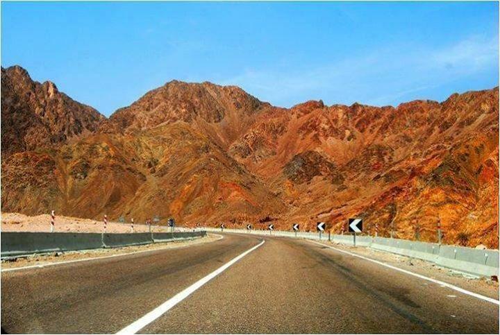 The way to dahab Sinai Egypt