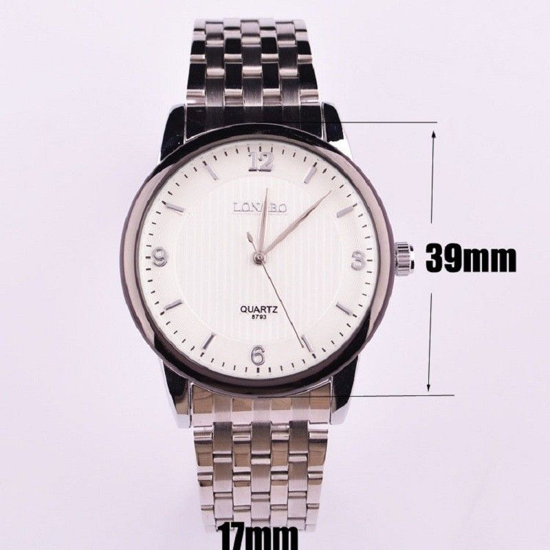 FREE SHIPPING WORLDWIDE - LONGBO brand Waterproof Full Steel watches men luxury brand montre homme mens watches top brand luxury relogio masculino 2015