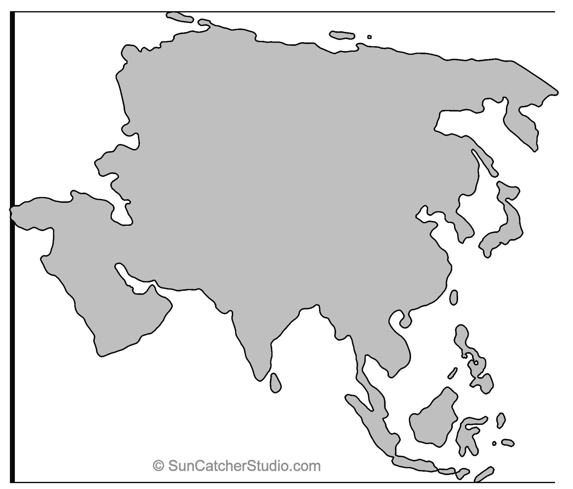 Asia Outline Pattern 1 850 1 579 Pixels