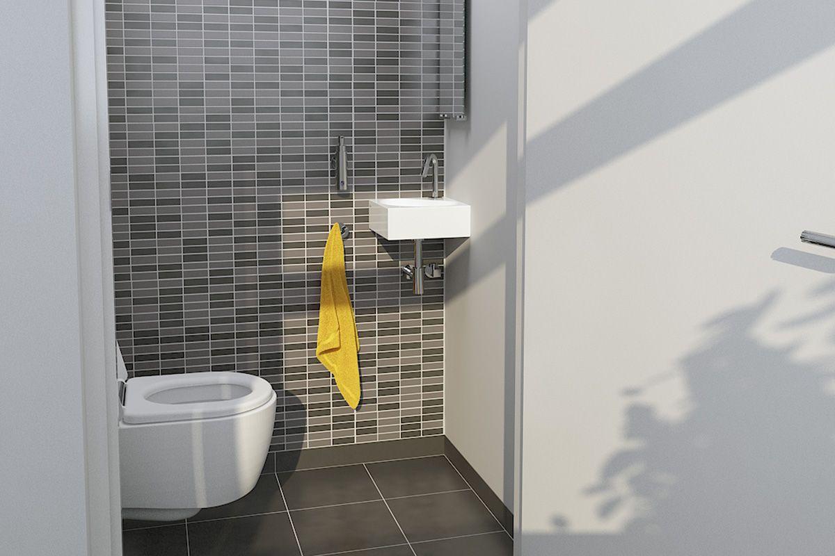 Clou flush hangtoilet en moderne wandtegels bathrooms
