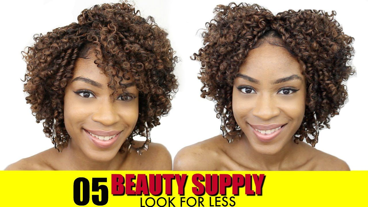 How To Style Synthetic Curly Wig Beauty Supply Store Hair Series Ep 5 Natural Hair Extensions Curly Wigs Beauty Supply
