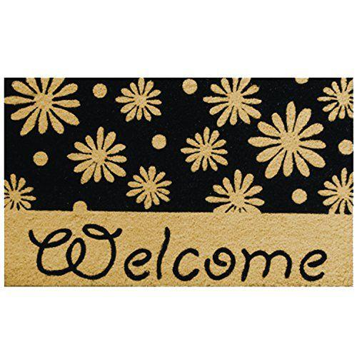 Robert Allen Home Garden Welcome Daisy Coir Doormat ** You Can Get  Additional Details At