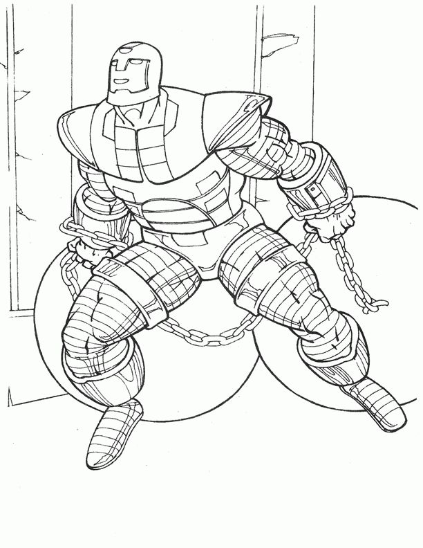 Iron Man Coloring Pages For Kids Printable Online 36