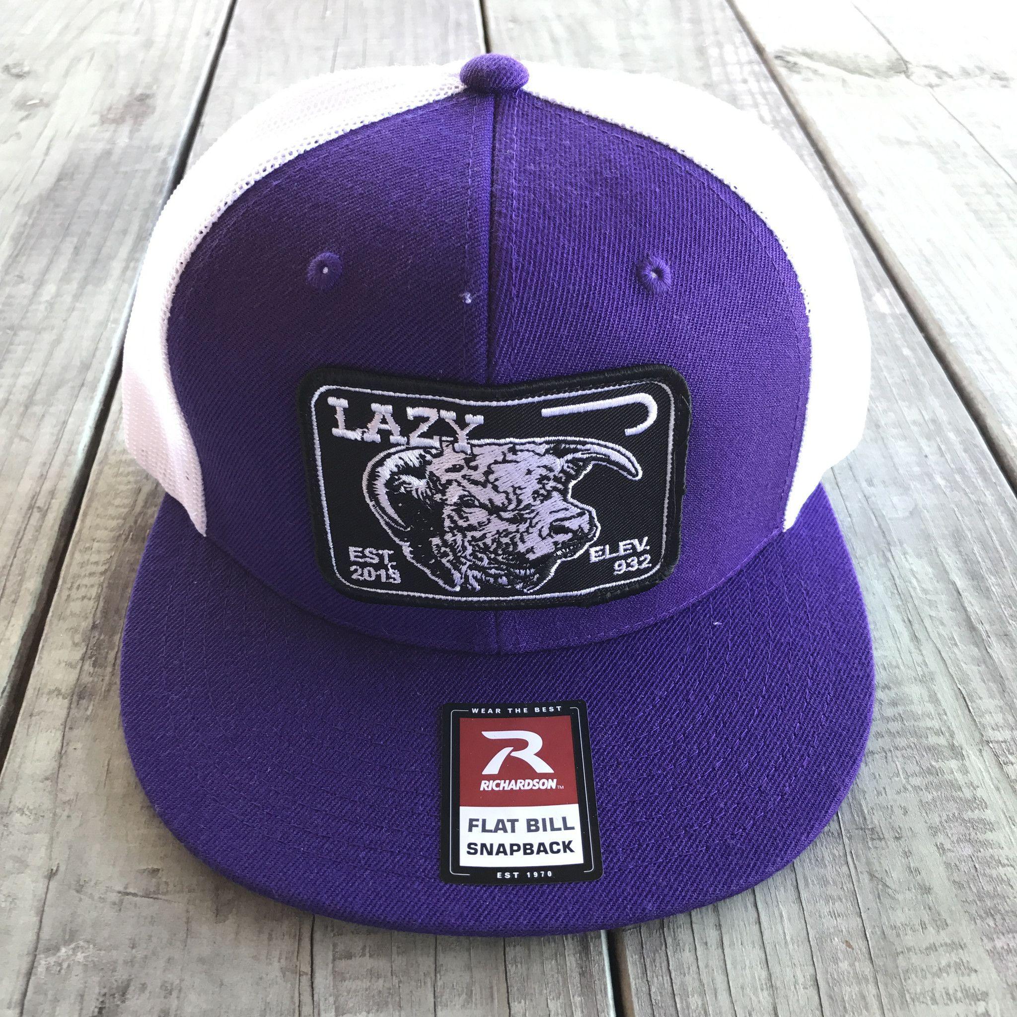 Lazy J Elevation Patch Hat (Purple White ) 4