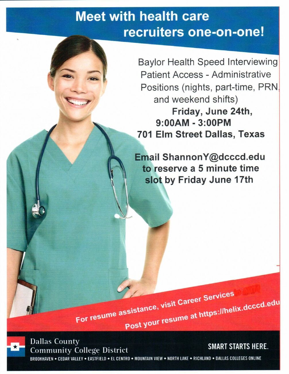 Dcccds healthcare resource center and baylor are