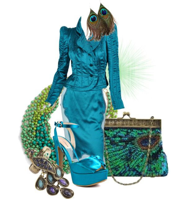 """""""Peacock/Entry"""" by kloeyblue ❤ liked on Polyvore"""