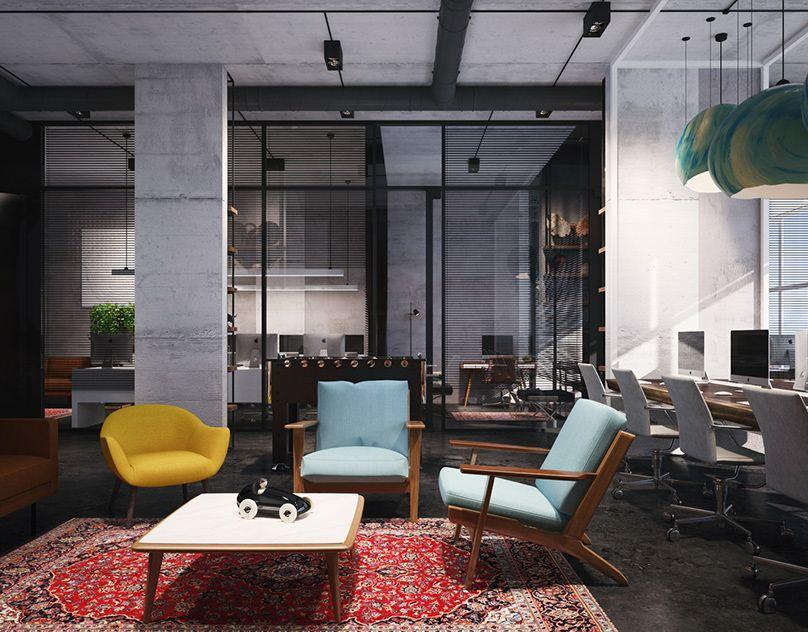 мебель и ковер в офисе