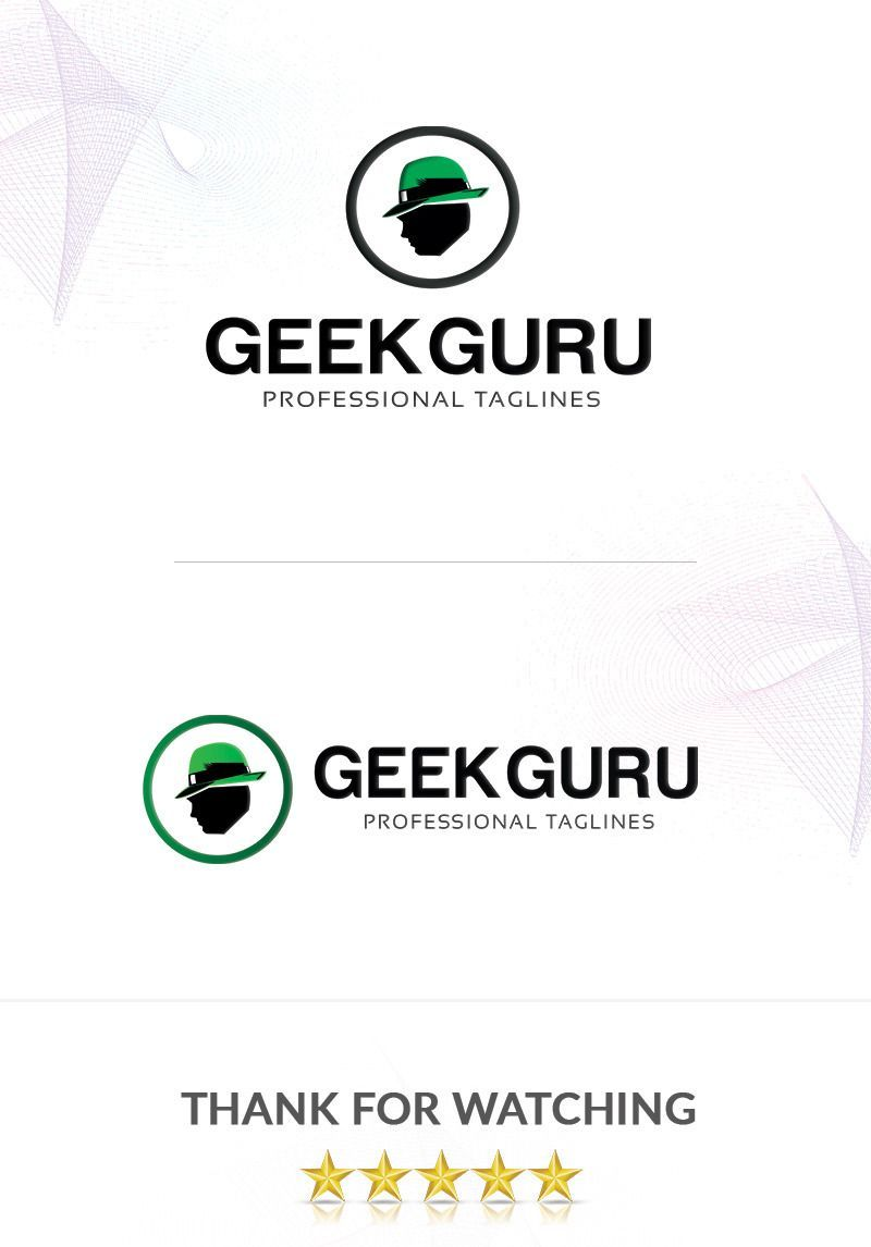 Geekguru Logo Template #abstract #logo #template #product #graphic  #brand #clean #business #creative #design #technology #media #web #green #life #cook #delivery #food #professional #restaurant #unique #vector #global #marketing #Creative Web Logo Technologies Geekguru Logo Template #88260