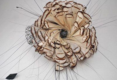 wedding head piece via Calder Clark Designs blog