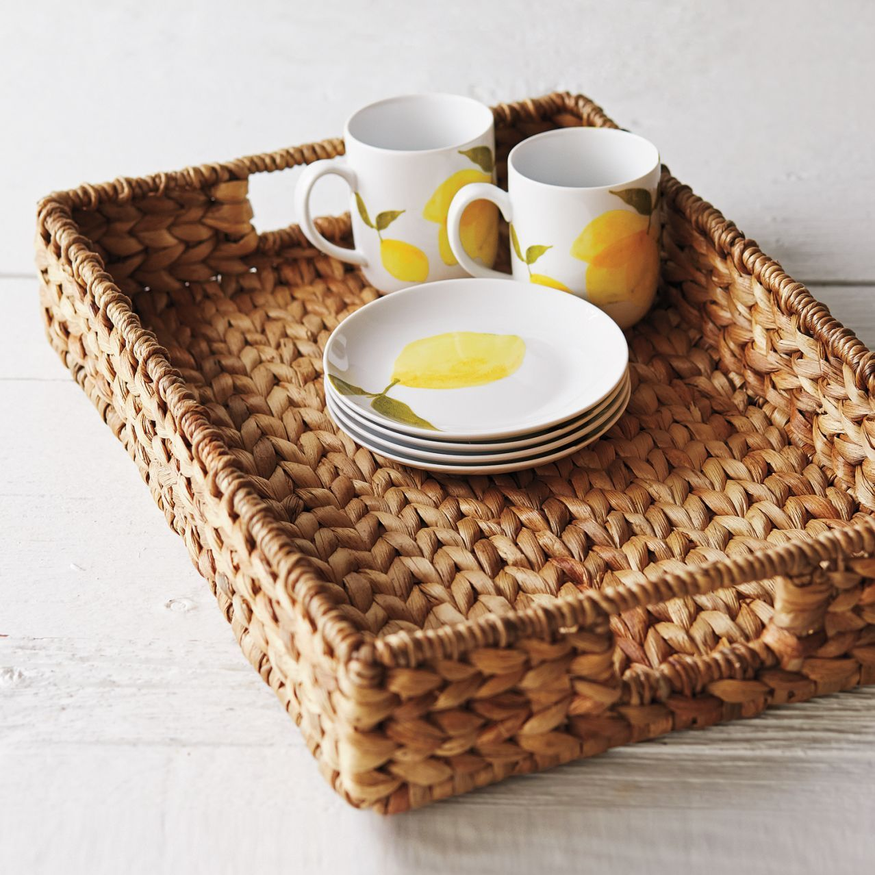 Water Hyacinth Tray Sur La Table Entertaining Tray
