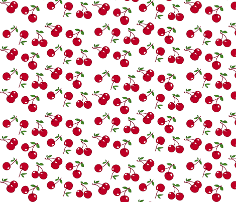 Colorful Fabrics Digitally Printed By Spoonflower Cherries Red X White Red And White Quilts Fabric Print Patterns